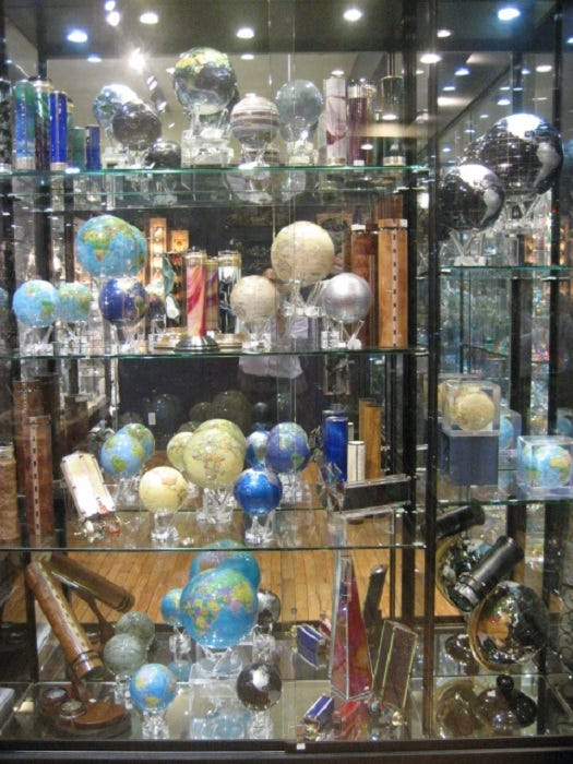 The Crystal Shop's display of the entire MOVA line.