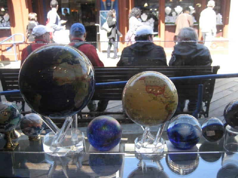 MOVA Globes attract many tourists and locals to The Crystal Shop.