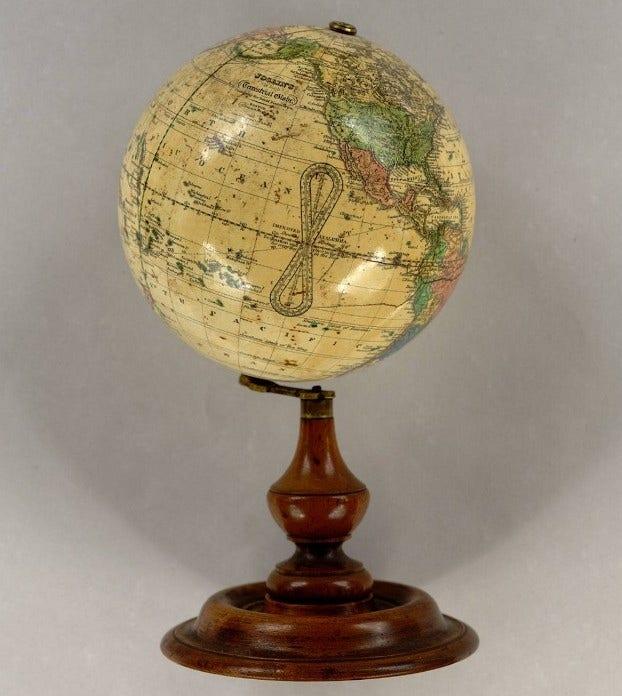 David Rumsey 19th century globe