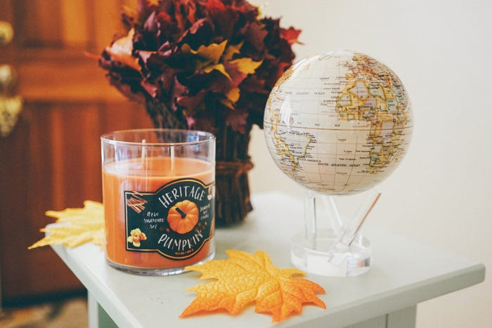 fall decor mova globe