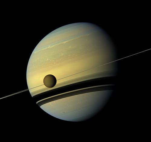 Titan and Saturn Photo Credit: NASA