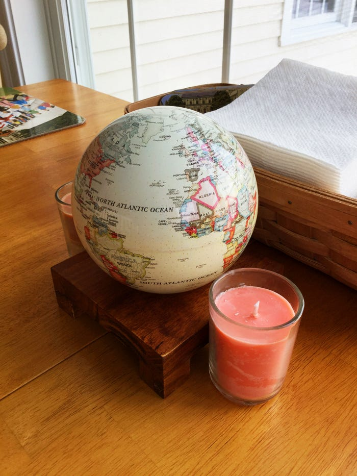 antique beige mova globe