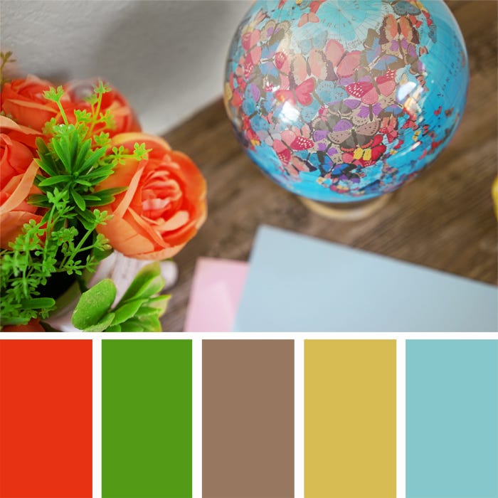 Butterfly mova globe Color Palette
