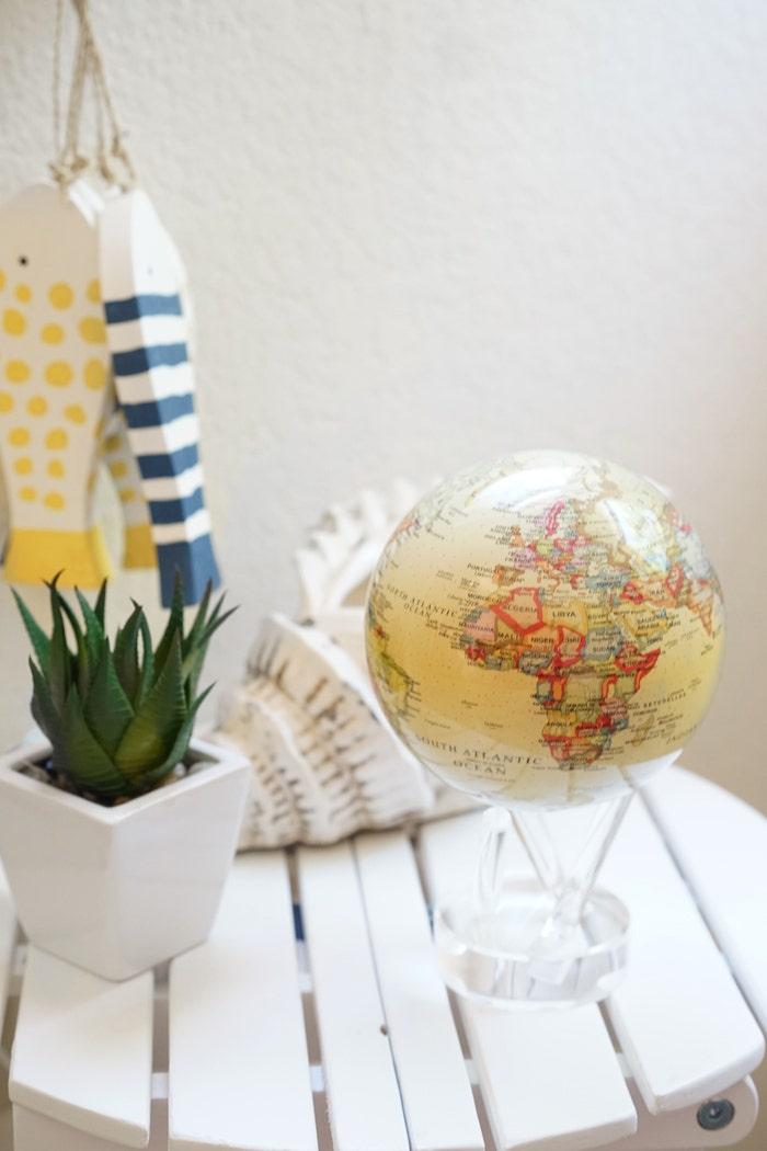 antique beige mova globe summer decor