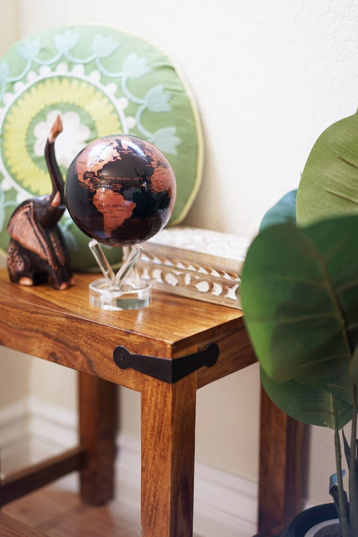 copper and black mova globe decor