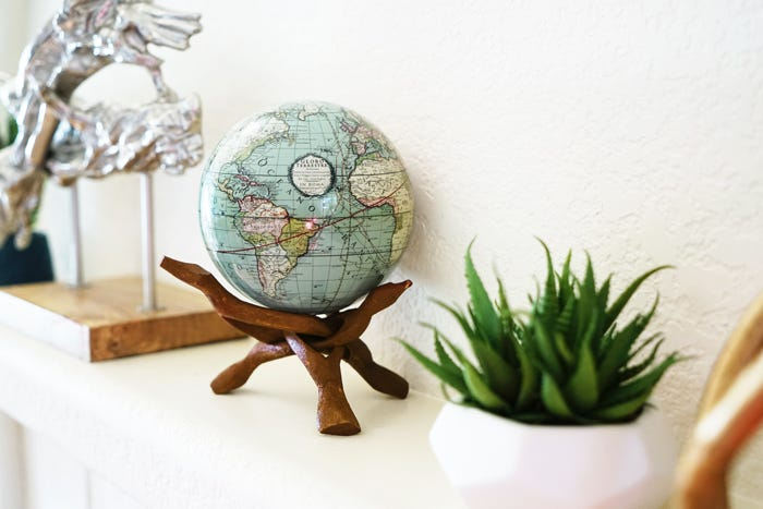 green cassini terrestrial mova globe decor