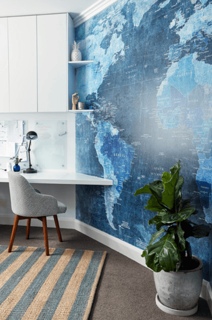 home-office-with-pantone-riverside-map-accent-wall-blue-green-min