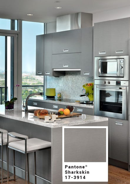 modern-kitchen-with-gunmetal-gray-cabinets-pantone-sharkskin-with-square