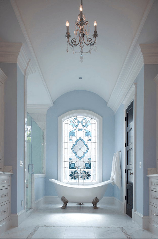 pantone-airy-blue-classic-bathroom-with-stained-glass-window-powder-blue-2-min