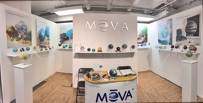MOVA tradeshow display