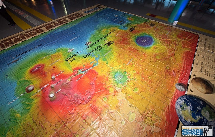 The floor map of mars