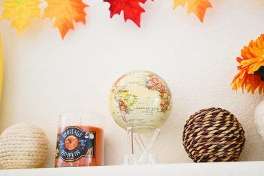 How to Decorate with the MOVA Globe: Fall Edition