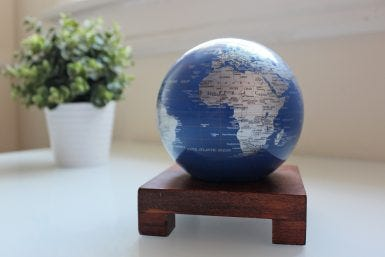 Introducing the Perfect Modern Décor Piece – The Blue and Silver MOVA Globe
