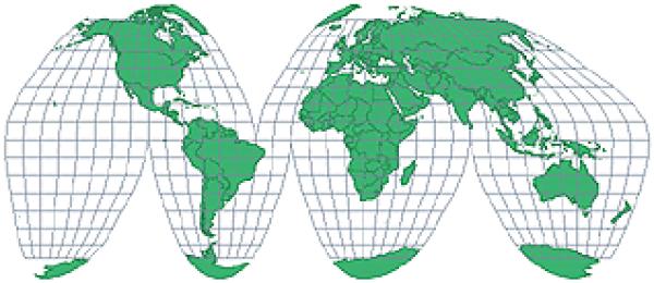 Goode homolosine map