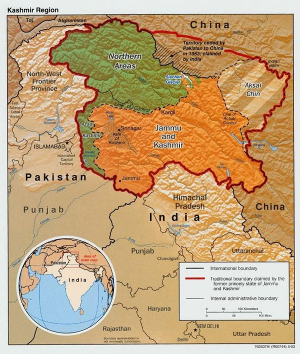 Complicated borders in Kashmir