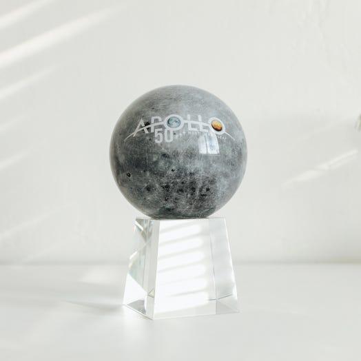 "Apollo Moon MOVA Globe 4.5"" with Crystal Base Tall"