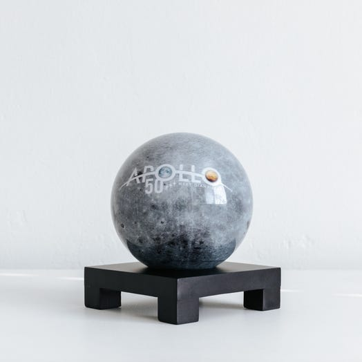"""Apollo Moon MOVA Globe 4.5"""" with Square Base Black"""