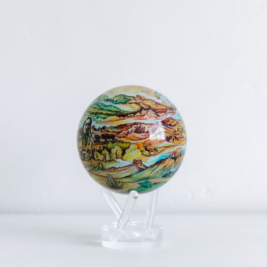 "Black Hills Termesphere MOVA Globe 4.5"" with Acrylic Base"