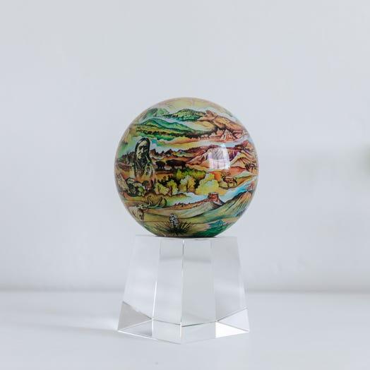 "Black Hills Termesphere MOVA Globe 4.5"" with Crystal Base Tall"