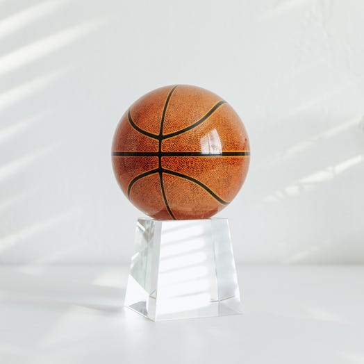 "Basketball MOVA Globe 4.5"" with Crystal Base Tall"
