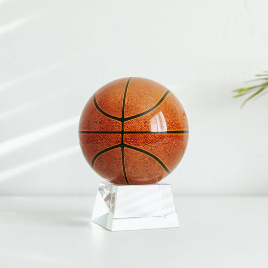 "Basketball MOVA Globe 4.5"" with Crystal Base"
