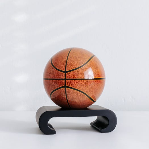 "Basketball MOVA Globe 4.5"" with Arched Base Black"