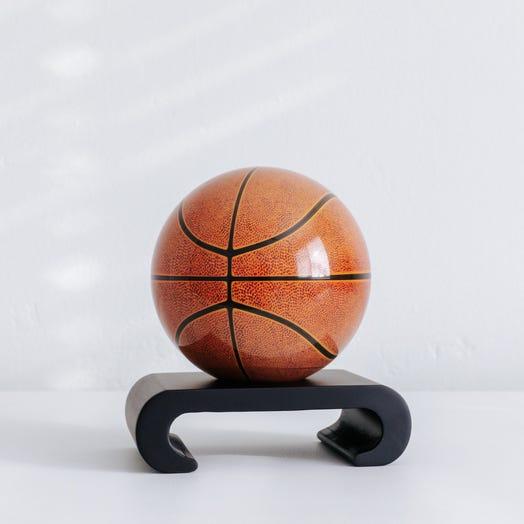 "Basketball MOVA Globe 4.5"" with Arched Base Black"