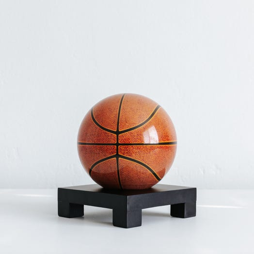 "Basketball MOVA Globe 4.5"" with Square Base Black"