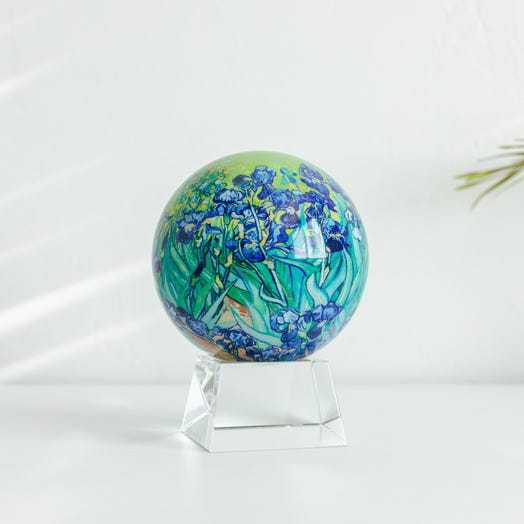 "Irises MOVA Globe 4.5"" with Crystal Base"