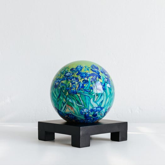 "Irises MOVA Globe 4.5"" with Square Base Black"