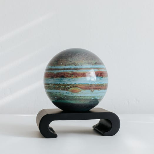 "Jupiter MOVA Globe 4.5"" with Arched Base Black"
