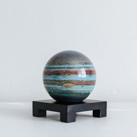 "Jupiter MOVA Globe 4.5"" with Square Base Black"