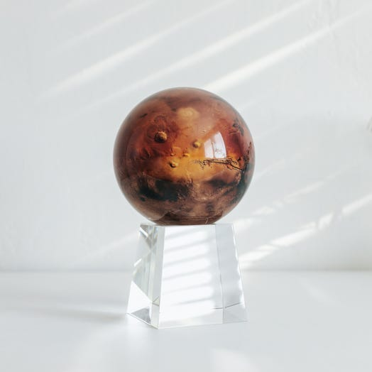 "Mars MOVA Globe 4.5"" with Crystal Base Tall"