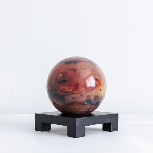 "Mars MOVA Globe 4.5"" with Square Base Black"