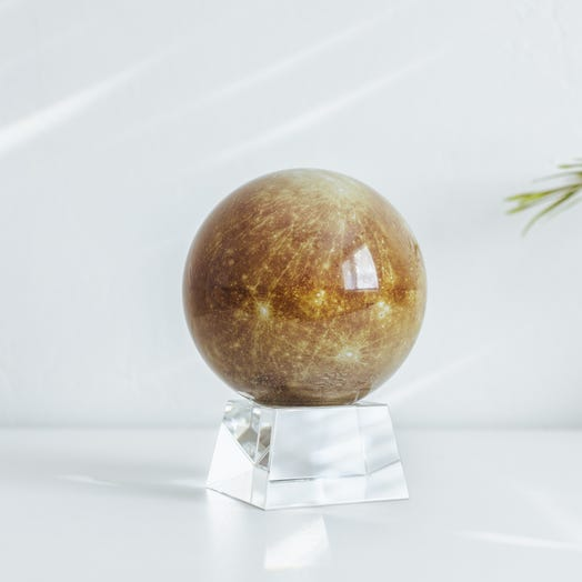 "Mercury MOVA Globe 4.5"" with Crystal Base"