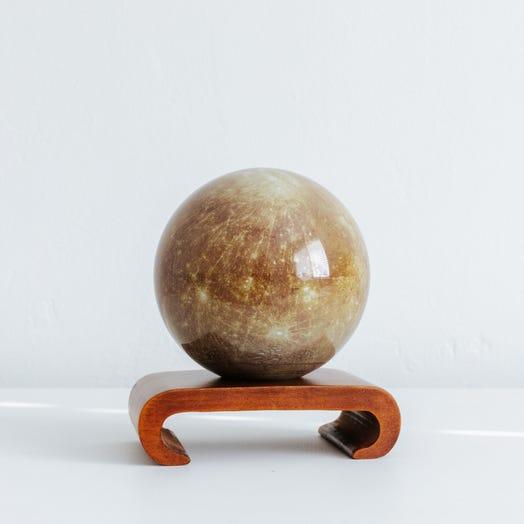"Mercury MOVA Globe 4.5"" with Arched Base Dark Wood"