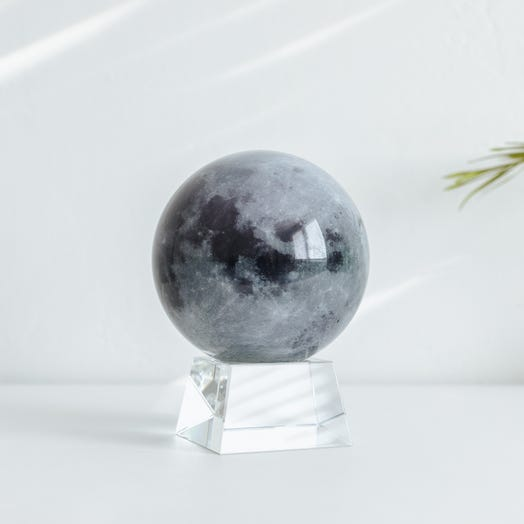 "Moon MOVA Globe 4.5"" with Crystal Base"