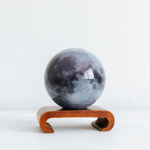 "Moon MOVA Globe 4.5"" with Arched Base Dark Wood"