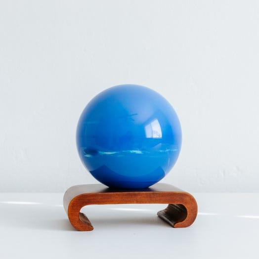 "Neptune MOVA Globe 4.5"" with Arched Base Dark Wood"