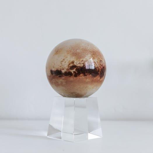 "Pluto MOVA Globe 4.5"" with Crystal Base Tall"