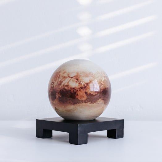 "Pluto MOVA Globe 4.5"" with Square Base Black"
