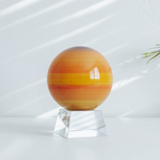 "Saturn MOVA Globe 4.5"" with Crystal Base"