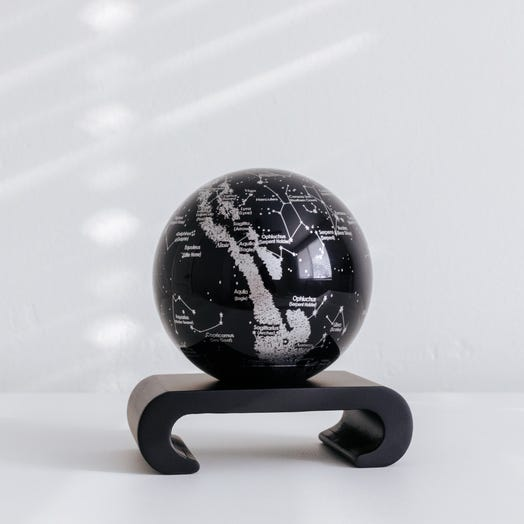 "Constellations MOVA Globe 4.5"" with Arched Base Black"