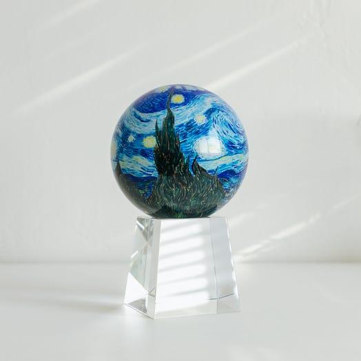 "Starry Night MOVA Globe 4.5"" with Crystal Base Tall"