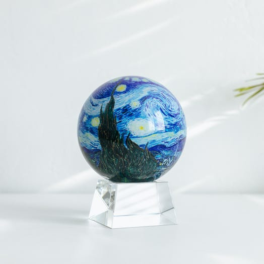"Starry Night MOVA Globe 4.5"" with Crystal Base"
