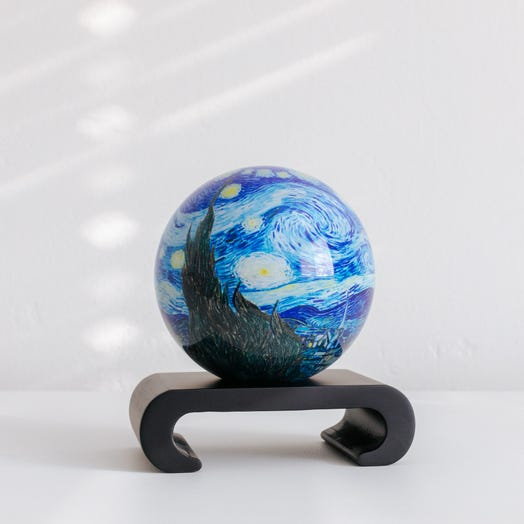 "Starry Night MOVA Globe 4.5"" with Arched Base Black"