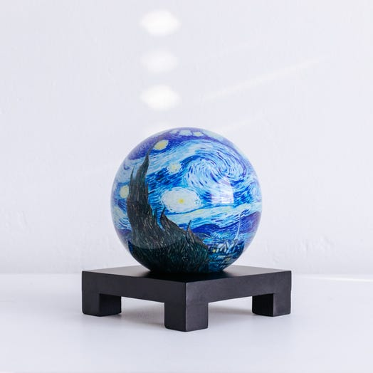 "Starry Night MOVA Globe 4.5"" with Square Base Black"