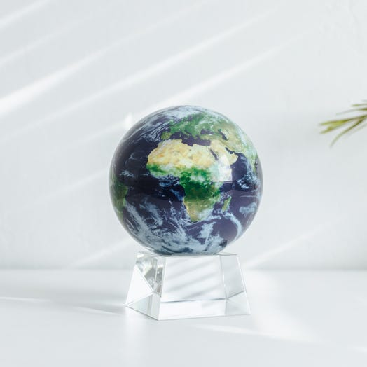"Earth with Clouds MOVA Globe 4.5"" with Crystal Base"