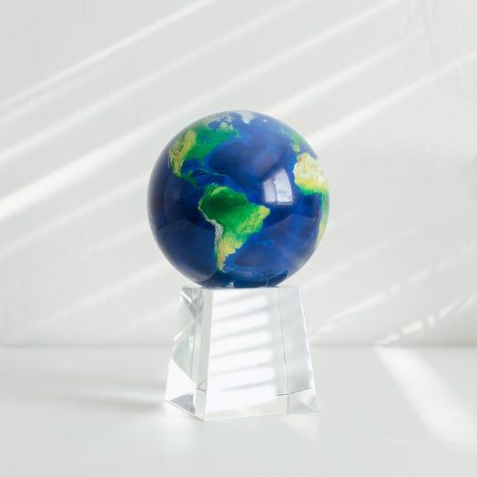 "Earth MOVA Globe 4.5"" with Crystal Base Tall"