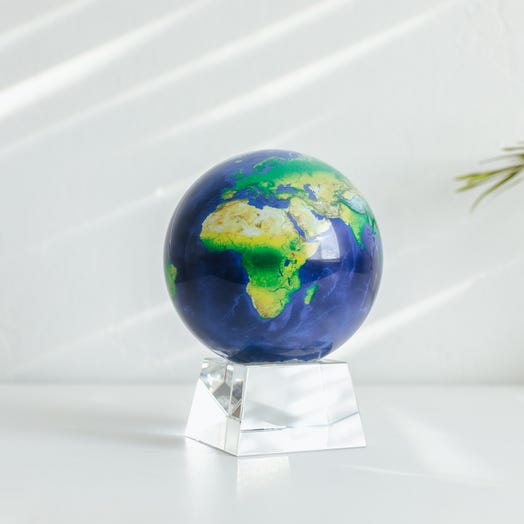 "Earth MOVA Globe 4.5"" with Crystal Base"
